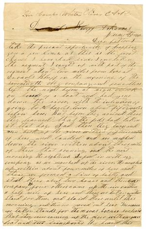 Primary view of [Letter from David S. Kennard to his father A. D. Kennard,Jr, June 21, 1862]