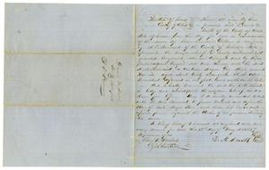 Primary view of [Bill of Sale for A. D. Kennard, May 12,1857]
