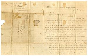 Primary view of [Letter from William D. Shrewsbury to H. A. Hamner, Novemer 25, 1858]