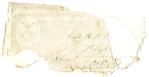 Primary view of object titled '[Envelope to Captain H. K. Redway]'.