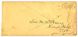 Primary view of object titled '[Envelope to Lt. H. K. Redway]'.