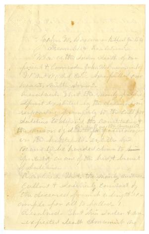 Primary view of object titled '[Eulogy for John W. B.]'.