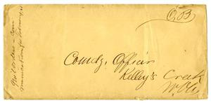 Primary view of object titled '[Envelope for the Commanding Officer]'.
