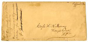 Primary view of object titled '[Envelope for Letter to Capt. H. K. Redway, 1865]'.