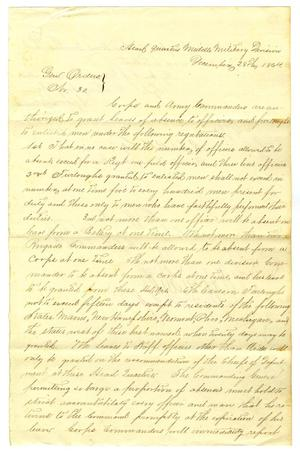 Primary view of object titled '[Letter from Lewis Sherrilan, December 28, 1864]'.