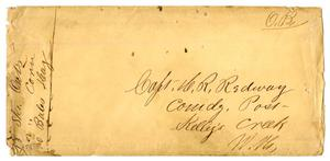 Primary view of object titled '[Envelope for Letter to Capt. H. K. Redway]'.