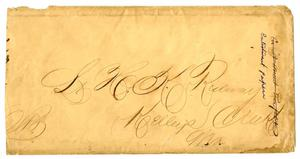 Primary view of object titled '[Envelope for Lieut. Hamilton K. Redway]'.
