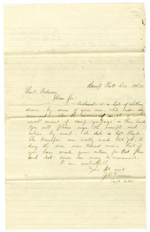 Primary view of object titled '[Letter to Hamilton K. Redway, December 10 1864]'.