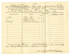 Primary view of object titled '[Receipt of W. D. Halfman, November 6, 1864]'.