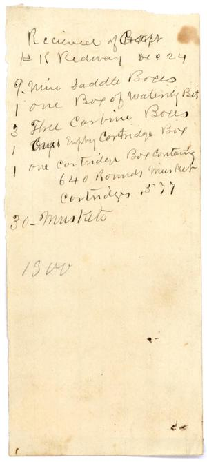 Primary view of object titled '[List of stores, December 24 ]'.