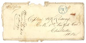 Primary view of object titled '[Envelope of official business to Captain Hamilton K. Redway, May 15, no year]'.