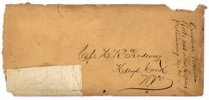 Primary view of object titled '[Envelope to Captain Hamilton K. Redway]'.