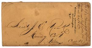 Primary view of object titled '[Envelope to Lieutenant John E. Ronk]'.
