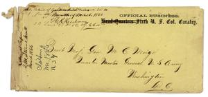 Primary view of object titled '[Envelope for M. C. Meigs, March 1866]'.