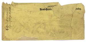 Primary view of object titled '[Blank Envelope, 1866]'.