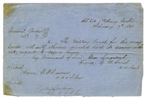 Primary view of object titled '[Letter from G. W. Sorrell, February 7, 1863]'.