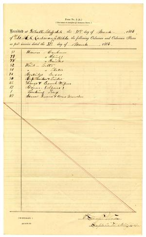 Primary view of object titled '[Letter from Henry P. Wade, March 31, 1866]'.