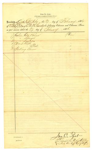 Primary view of [Letter from James C. Post, February 27, 1866]