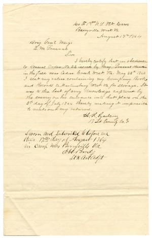 Primary view of object titled '[Letter from Hamilton K. Redway, August 17, 1864]'.