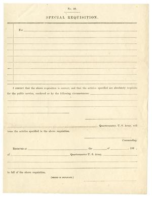 Primary view of object titled '[Blank Special Requisition Form]'.