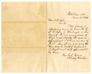 Primary view of object titled '[Letter from Bradley Winslow to A. H. Laflin, June 26, 1868]'.