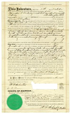 Primary view of [Mortgage agreement, November 5, 1875]