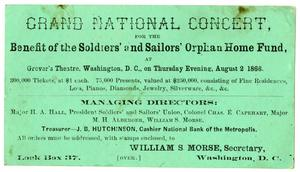 Primary view of [Advertisement for the Grand National Concert, August 2, 1866]