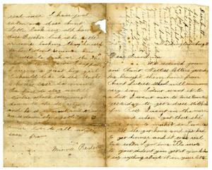 Primary view of [Letter from Minnie Redway to Caroline B. Tate, August 10, 1875]