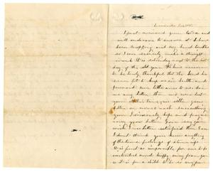 Primary view of object titled '[Letter from Loriette C. Redway, December 30, 1865]'.