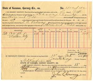 Primary view of object titled '[Bill of sale, September 4, 1900]'.