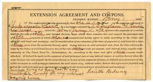 Primary view of object titled '[Extension agreement, January 1, 1895]'.