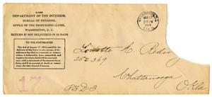Primary view of [Envelope addressed to Loriette C. Redway, March 17, 1914]