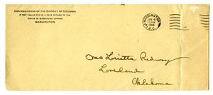 Primary view of object titled '[Envelope, January 8, 1919]'.