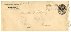 Primary view of [Envelope for Loriette C. Redway, December 10, 1906]
