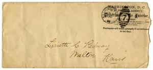 Primary view of object titled '[Envelope, June 9, 1889]'.