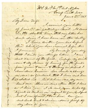 Primary view of object titled '[Letter from Hamilton K. Redway to Loriette C. Redway, June 23, 186?]'.