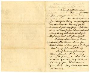 Primary view of object titled '[Letter from Hamilton K. Redway to Loriette C. Redway, February 1, 1864]'.