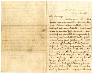 Primary view of [Letter from Hamilton K. Redway to Loriette Redway, July 11, 1867]
