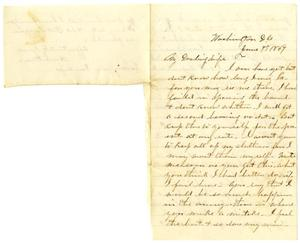 Primary view of object titled '[Letter from Hamilton K. Redway to Loriette Redway, June 7, 1867]'.