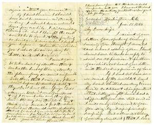 Primary view of [Letter from Hamilton K. Redway to Loriette Redway, January 5, 1866]