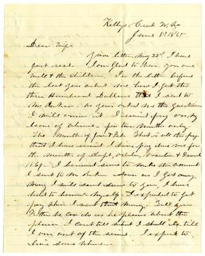 Primary view of object titled '[Letter from Hamilton K. Redway to Loriette Redway, June 5, 1865]'.