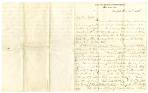 Primary view of object titled '[Letter to the Captain, May 22, 1865]'.