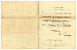 Primary view of object titled '[Letter from Adjutant General's Office, February 25, 1865]'.