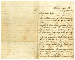 Primary view of [Letter from Hamilton K. Redway to Loriette Redway,  August 4, 1867]
