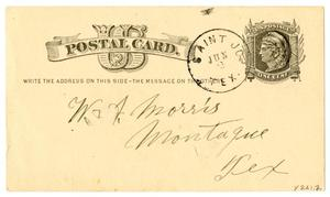 Primary view of object titled '[Postcard from R. Cook to W. A. Morris, June 3, 1880]'.