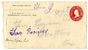 Primary view of object titled '[Envelope for Levi Perryman, June 24, 1910]'.