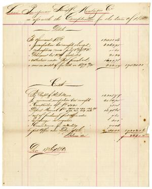 Primary view of [Accounts Report, December 18, 1880]