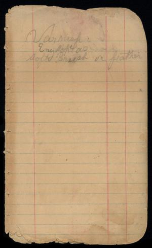 Primary view of [Account Book, 1904]