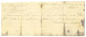 Primary view of [Receipt, July 3, 1875]