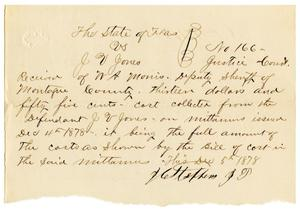 Primary view of [Receipt from J.C. Stephens to W.A. Morris, December 5, 1878]
